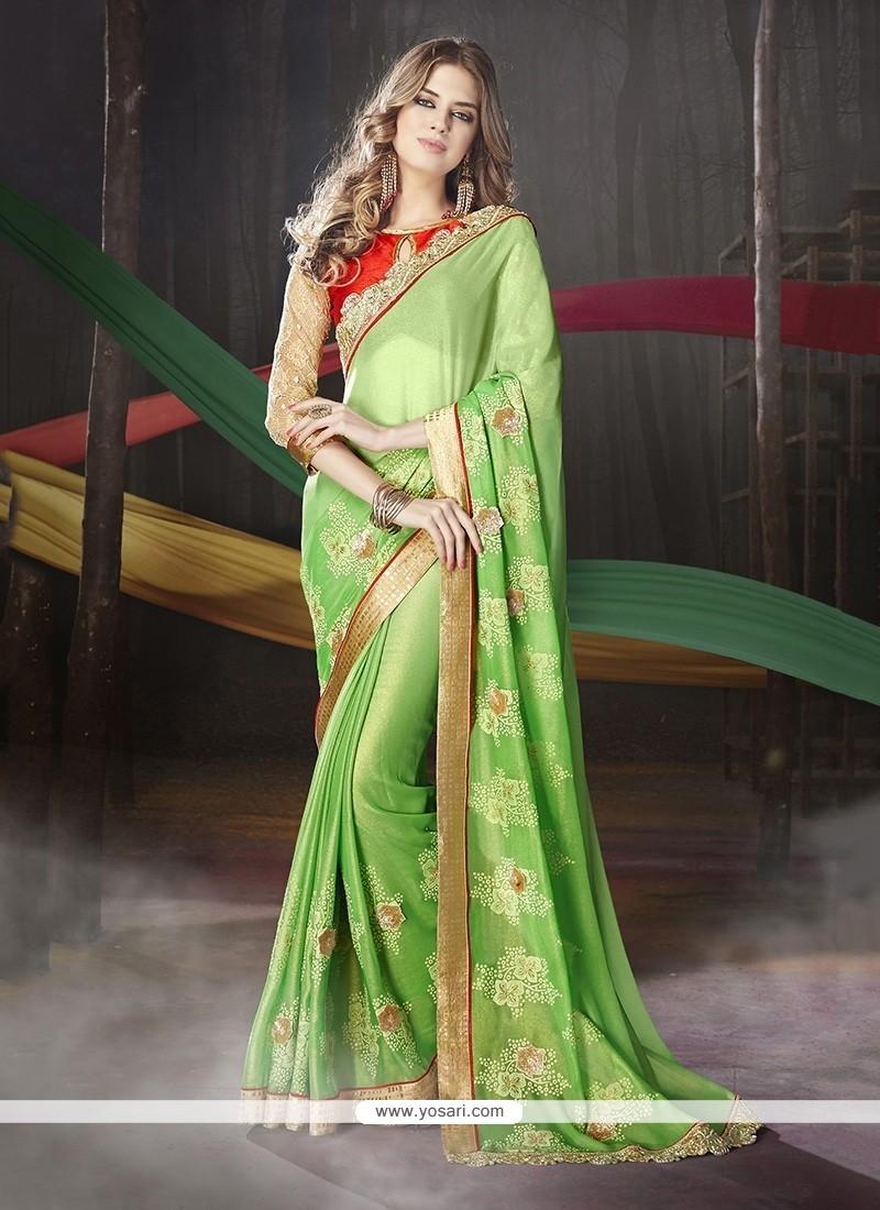 Innovative Green Designer Traditional Sarees
