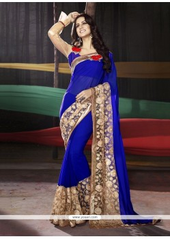Orphic Patch Border Work Classic Saree