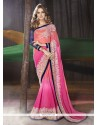 Mystical Georgette Hot Pink Traditional Saree