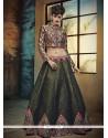 Embroidered Banglori Silk A Line Lehenga Choli In Multi Colour