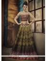Snazzy Banglori Silk Multi Colour Embroidered Work A Line Lehenga Choli