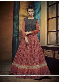 Fashionable Patch Border Work A Line Lehenga Choli