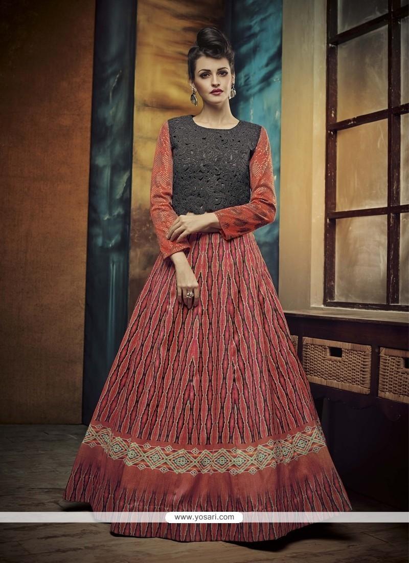 Fashionable Patch Border Work A Line Lehenga Choli