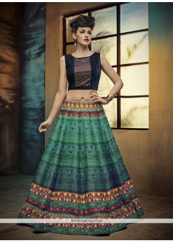 Majesty Banglori Silk Embroidered Work A Line Lehenga Choli