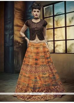 Floral Banglori Silk A Line Lehenga Choli