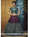 Grandiose Banglori Silk Magenta A Line Lehenga Choli