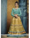 Brilliant Print Work Banglori Silk A Line Lehenga Choli