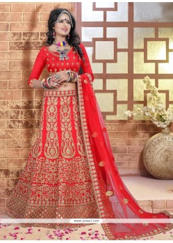 Beauteous Silk A Line Lehenga Choli
