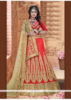 Specialised Red A Line Lehenga Choli