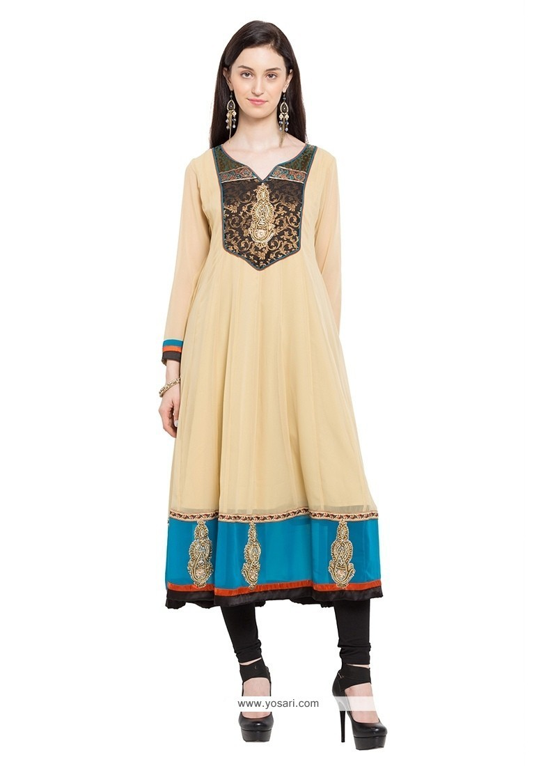Piquant Lace Work Party Wear Kurti