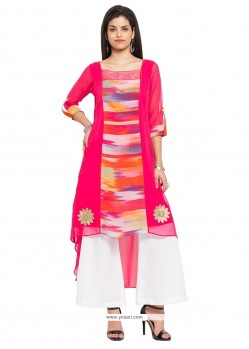 Orphic Georgette Off White Party Wear Kurti