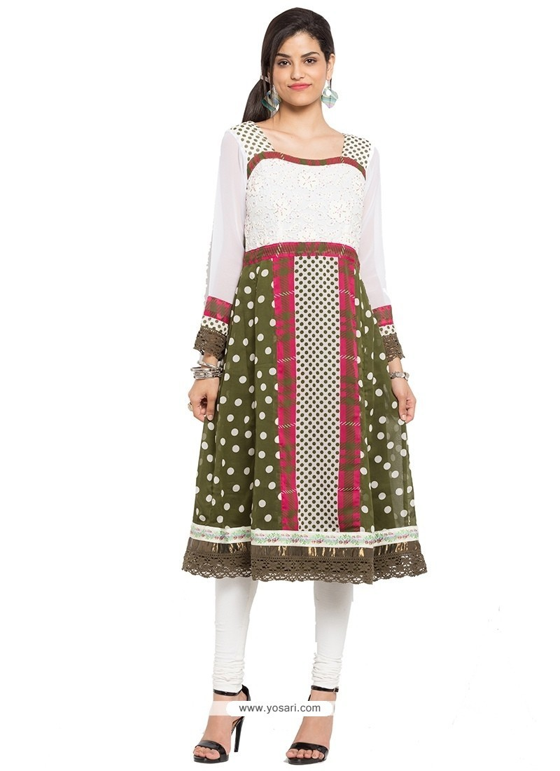 Intricate Print Work Party Wear Kurti