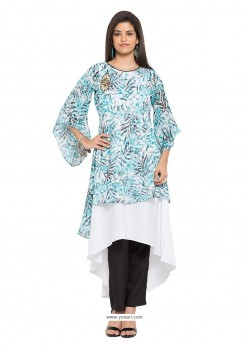 Dainty Off White Party Wear Kurti