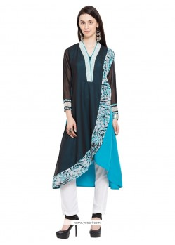 Elegant Navy Blue Party Wear Kurti