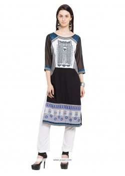 Gorgonize Cotton Print Work Party Wear Kurti