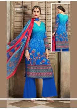 Customary Print Work Cotton Designer Palazzo Salwar Kameez