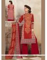 Flattering Print Work Cotton Multi Colour Designer Palazzo Salwar Kameez