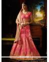 Divine Fancy Fabric Hot Pink A Line Lehenga Choli