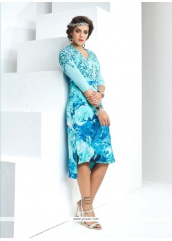 Exotic Blue Party Wear Kurti