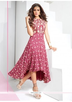 Sightly Magenta Party Wear Kurti