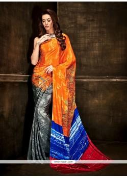 Intriguing Crepe Silk Multi Colour Casual Saree