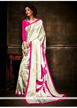 Royal Print Work Casual Saree