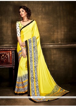 Mod Crepe Silk Print Work Casual Saree