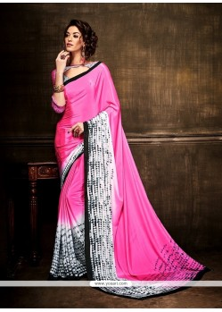 Adorning Print Work Casual Saree