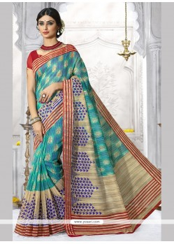 Gleaming Print Work Casual Saree