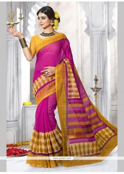 Excellent Hot Pink Casual Saree