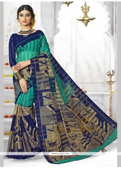 Pleasance Art Silk Print Work Casual Saree