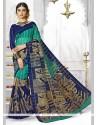 Pleasance Art Silk Print Work Casual Saree