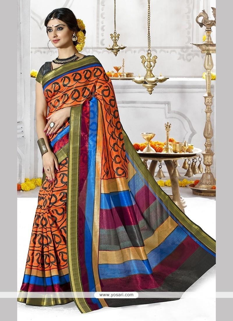 Sterling Multi Colour Casual Saree