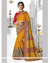 Sonorous Mustard Casual Saree