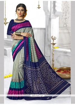 Groovy Print Work Casual Saree