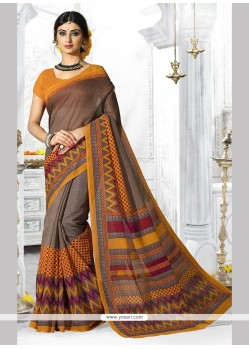 Tempting Multi Colour Casual Saree