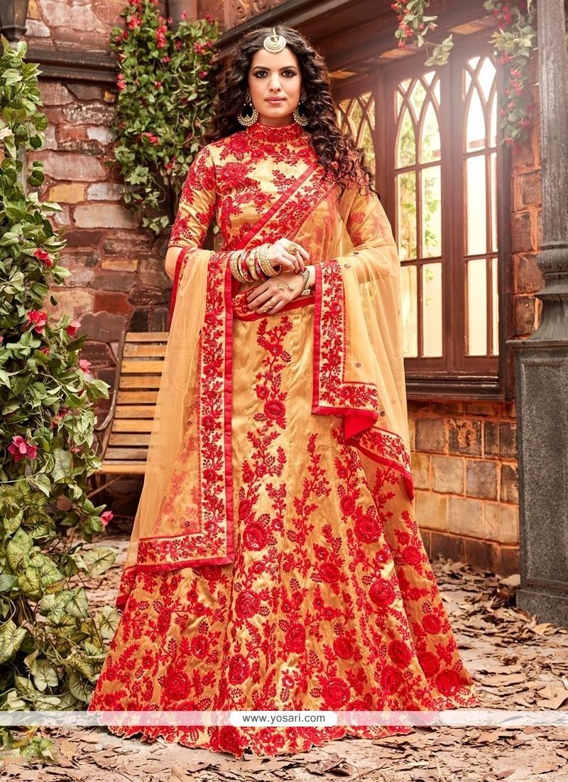 Cute A Line Lehenga Choli For Wedding