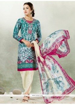 Desirable Satin Embroidered Work Designer Suit