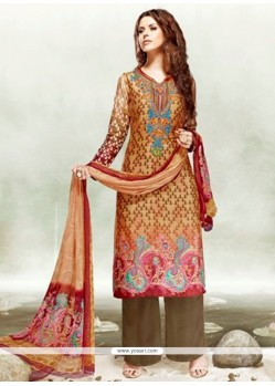 Amazing Multi Colour Digital Print Work Designer Palazzo Salwar Kameez