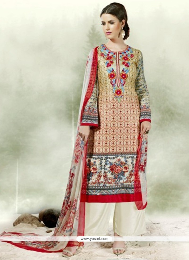 Beckoning Multi Colour Designer Palazzo Salwar Kameez