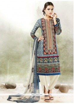 Pleasing Digital Print Work Designer Suit
