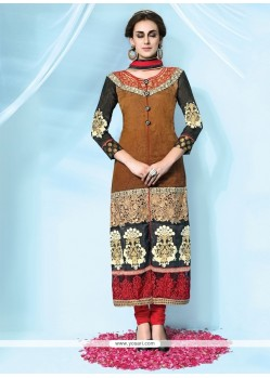 Beautiful Net Embroidered Work Designer Suit