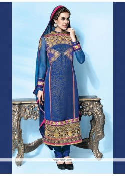 Modish Blue Designer Suit