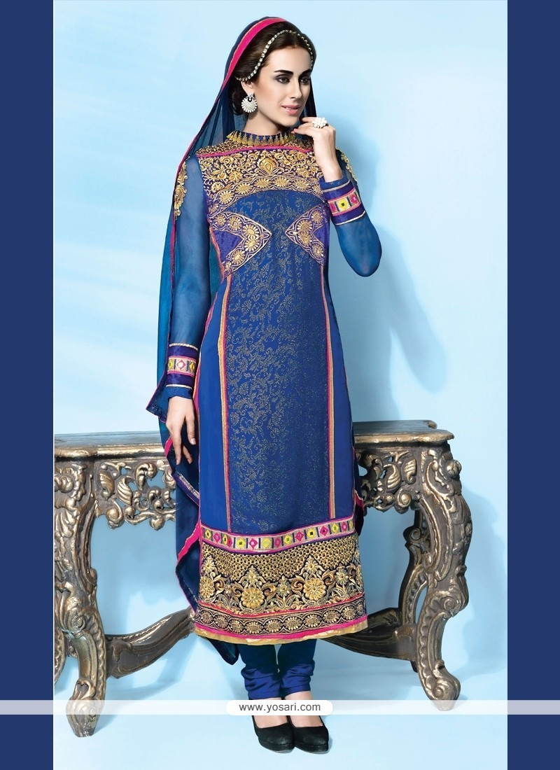 Modish Blue Designer Suit