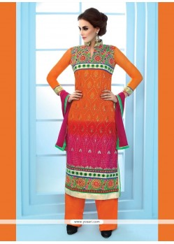 Topnotch Georgette Embroidered Work Designer Suit