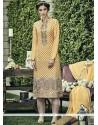 Perfervid Faux Chiffon Designer Straight Salwar Kameez