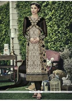 Affectionate Faux Chiffon Designer Straight Salwar Kameez