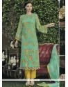 Marvelous Faux Chiffon Designer Straight Salwar Kameez