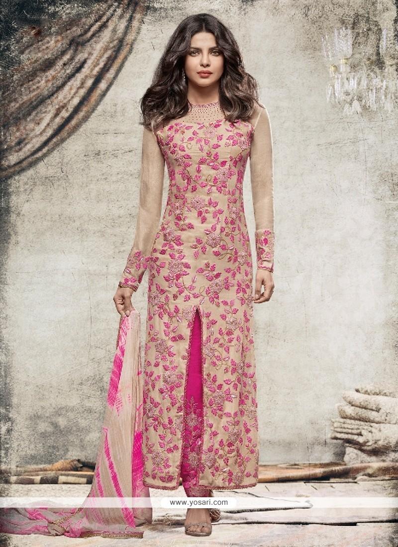 Priyanka Chopra Hot Pink Designer Suit