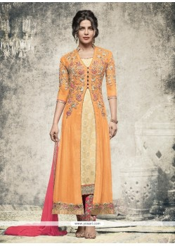 Priyanka Chopra Embroidered Work Churidar Designer Suit
